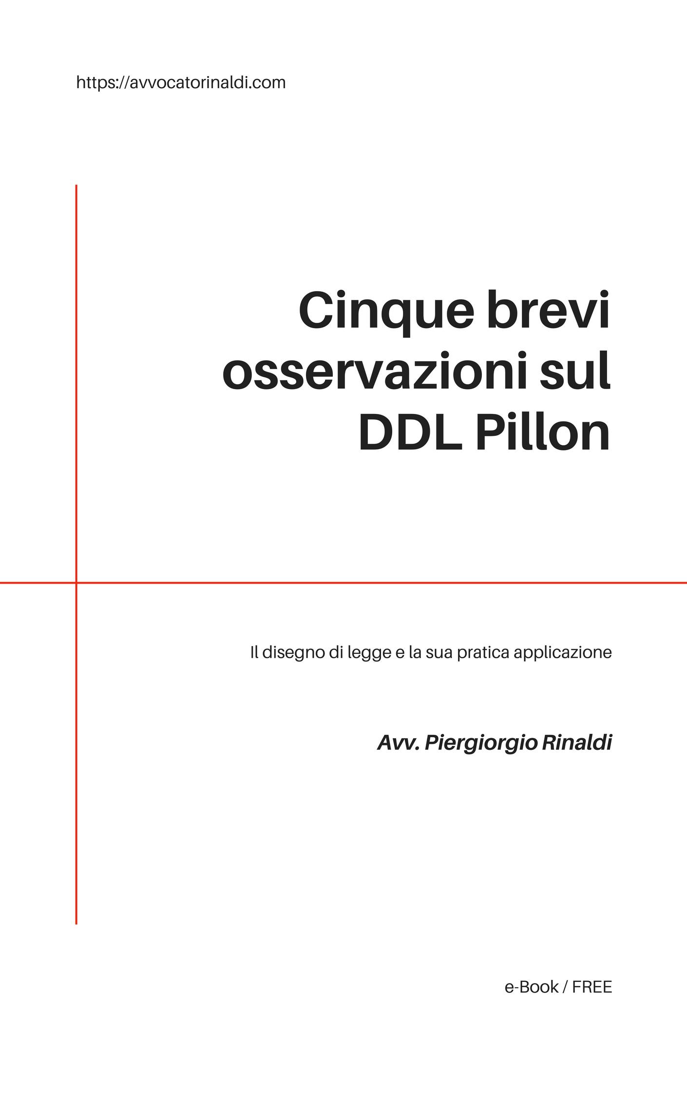 Il DDL Pillon