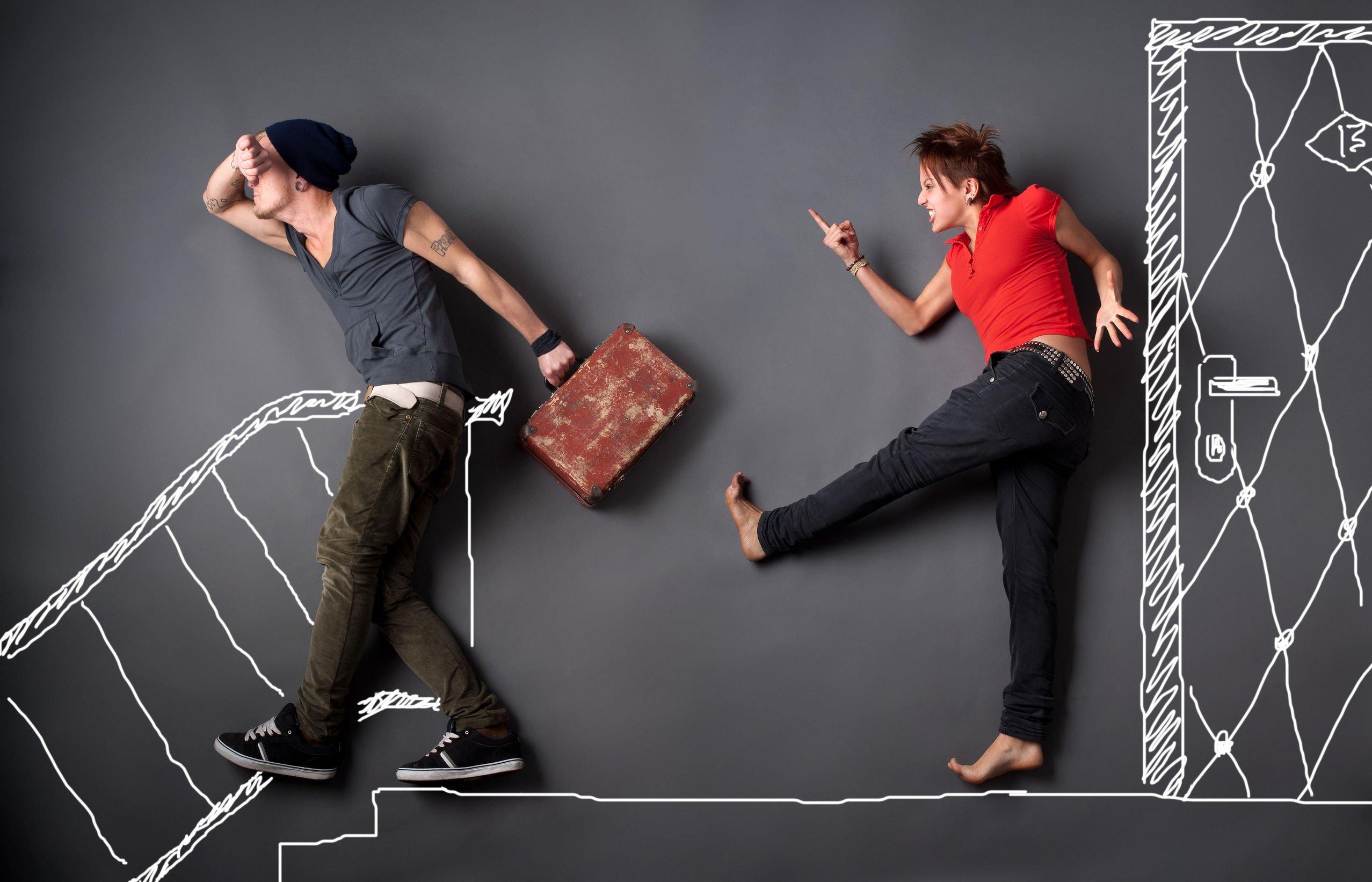 cacciare casa partner spoglio possesso