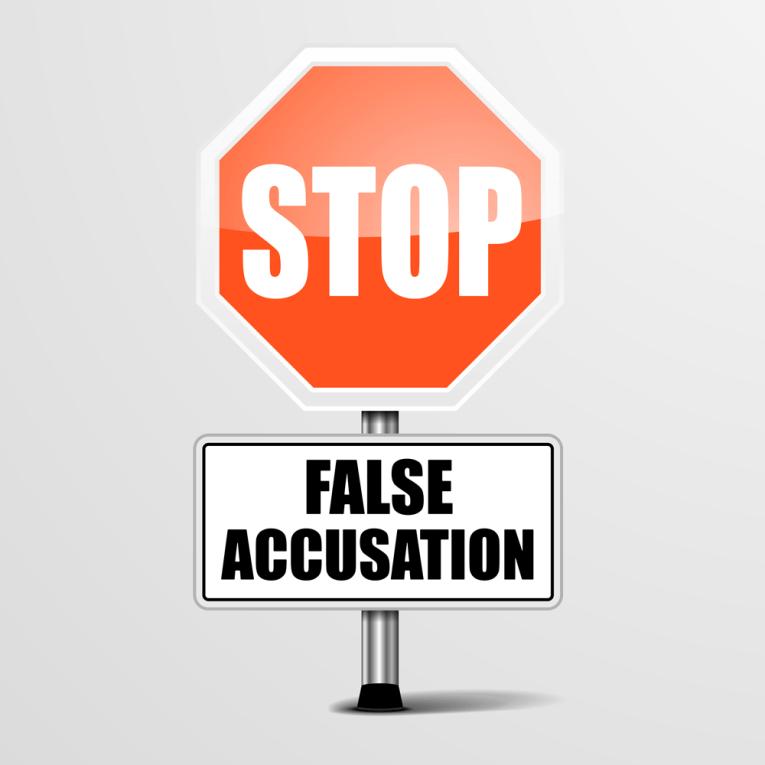 false accuse separazione giudiziale