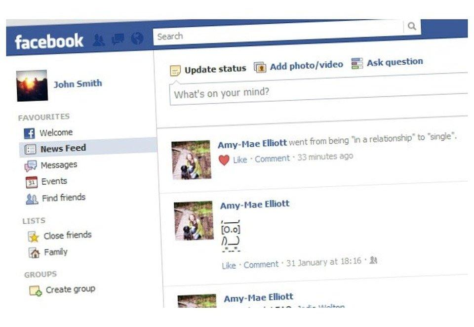 cambiare stato situazione sentimentale su Facebook nella separazione